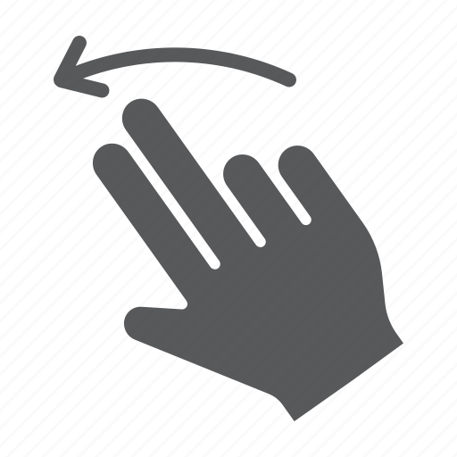 finger, flick, gesture, hand, left, touch, two icon