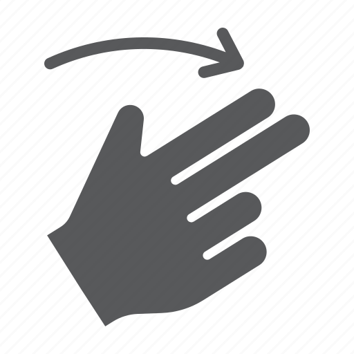 finger, flick, gesture, hand, right, touch, two icon