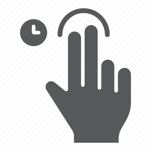 finger, gesture, hand, hold, tap, touch, two icon