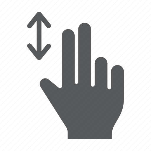 finger, gesture, hand, scroll, touch, two, vertical icon
