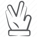 divide gesture, finger pointer, hand gesture, indication, middle fingers icon