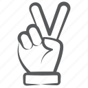 finger pointer, hand gesture, indication, peace sign, victory icon