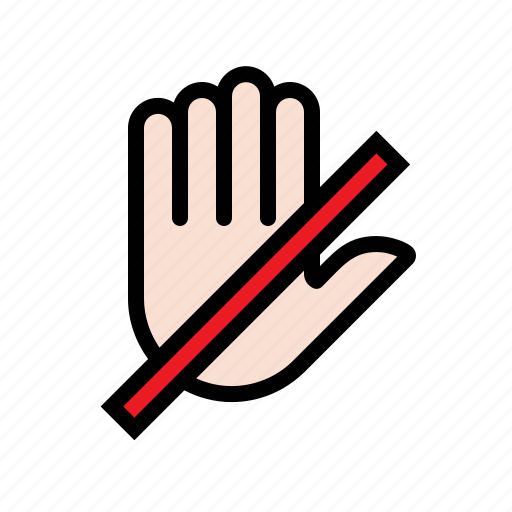 do not open, do not push, do not touch, fingers, gesture, hand icon