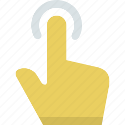 action, click, finger, gesture, hand, interaction, tap, touch icon