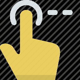 direction, drag, finger, gesture, hand, slide, tap icon