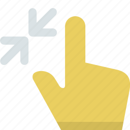 action, collapse, finger, gesture, hand, interaction, pinch icon