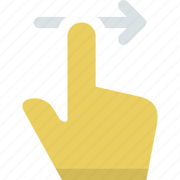 action, finger, gesture, hand, interaction, slide, swipe icon