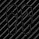 slippers, flip flops, footwear, sandals