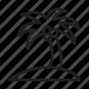 palm trees, island, beach, tropical