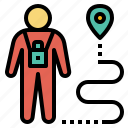 sightseer, tourist, visitor, tripper, backpacker, navigator, pin
