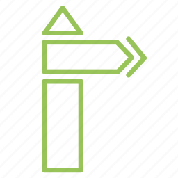 arrow, pointer, right, route, tourist icon