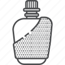 camping, flask, hiking, outdoors icon