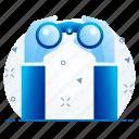 binocular, find, magnifier, view icon