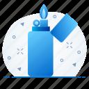 burn, flame, lighter icon