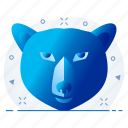 bear, face, mask icon