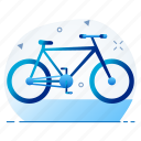 bicycle, cycle, sport, vehicle icon