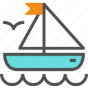 adventure, boat, sail, sailing, sea, ship, voyage, yacht, yachting icon