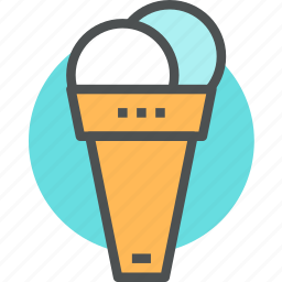 cone, cream, dessert, ice, icecream, sweet, tasting icon