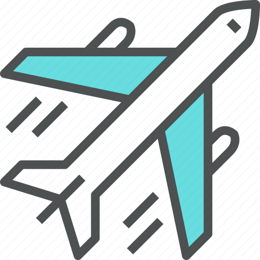 air, airplane, flying, plane, transport, travel, vacation icon