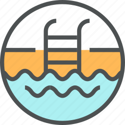 ocean, pool, sea, swim, swimming, water, wave icon