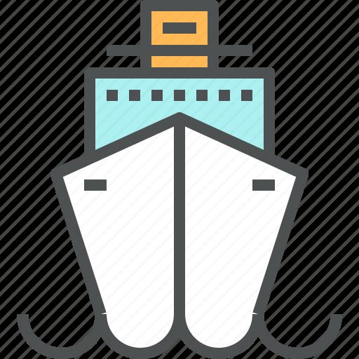 cruise, marine, ocean, sea, ship, trip, vacation, vessel icon