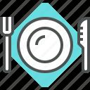 cutlery, flatware, food, fork, knife, plate, serving, tableware, utensils
