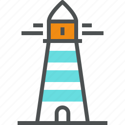 beacon, coast, light, lighthouse, marine, nautical, navigation, port icon