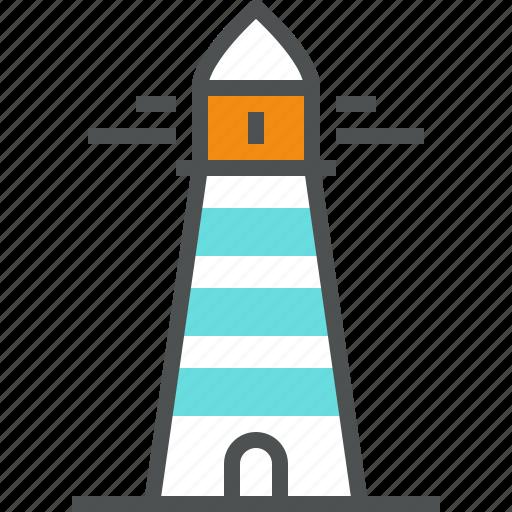 beacon, coast, light, lighthouse, marine, nautical, navigation, port icon