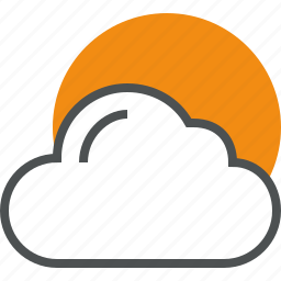 climate, cloud, cloudy, comfort, sky, sun, weather icon