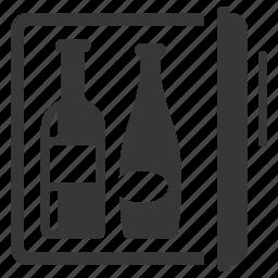 drinks, minibar, refrigerator icon