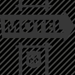accommodation, motel, travel icon