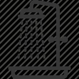 bathroom, shower icon
