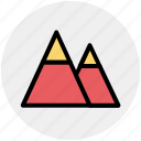 mountain, mountains, nature, parks, ski, terrain icon