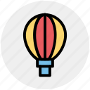 air, air balloon, balloon, flying, hot, journey icon