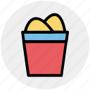 beach, bucket, sand bucket, scene, sea, summer icon