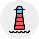 building, light house, marine, place, sea, seamark icon