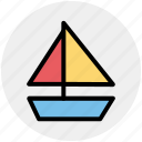 boat, sail, sailor, ship, shipping, trip icon