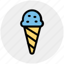 cold, cream, food, ice cream icon