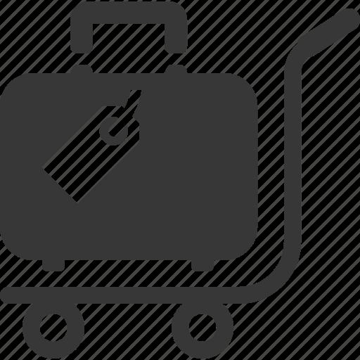 handling, luggage, suitcase, travel icon