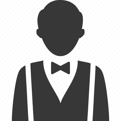 hotel services, serving, waiter icon