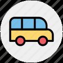 delivery van, school van, transport, van, vehicle icon