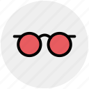 eye glasses, glasses, male glasses, read, study icon