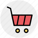 basket, cart, shopping, shopping cart, trolley icon