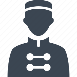 bellboy, bellhop, hotel service icon