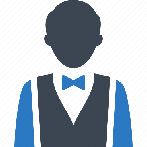 hotel services, restaurant, waiter icon