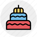 birthday cake, cake, celebrations, food, sweet food icon
