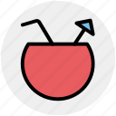 bowl, coconut, coconut juice, drink, food, juice icon