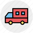 delivery van, school van, transport, van, vehicle icon