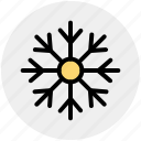 flake, ice, precipitation, star, water, winter icon