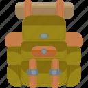 adventure, backback, camping, rucksack icon